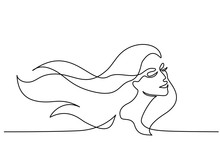 Continuous One Line Drawing. A...