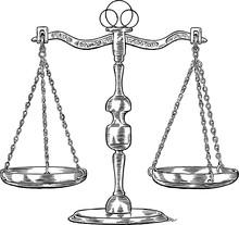 Antique Scales Balance Vector