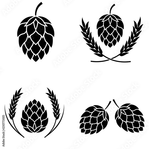 Fotomural Hop icon isolated , logo on white background