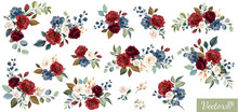 Set Of Floral Branch. Flower R...