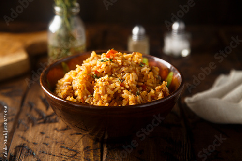 Fried rice with vegetables Wallpaper Mural
