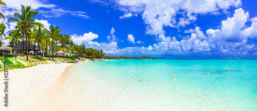 amazing tropical scenery - white beaches of Mauritius island