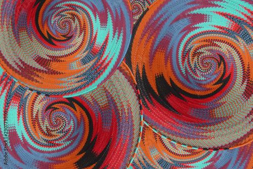 Fotografie, Obraz  Woven wire baskets as a background