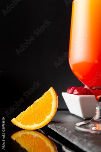 Keuken foto achterwand Cocktail Maraschino cherries and tequila sunrise