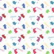 Vivid rabbit seamless background vector
