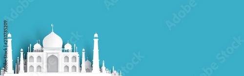 blank mosque text background, modern elegant islamic design Wallpaper Mural