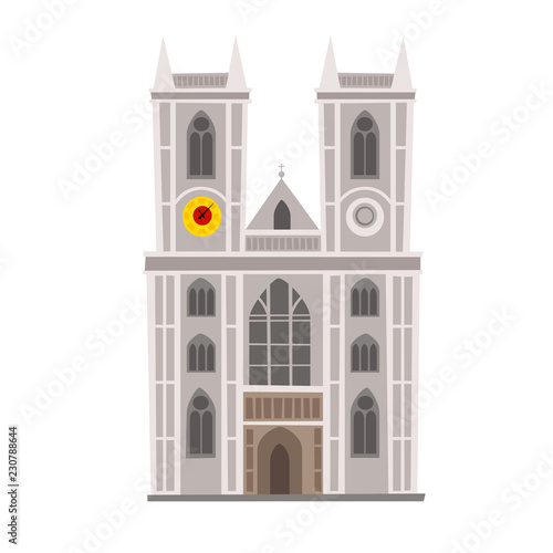 Westminster Abbey vector Illustration Canvas Print