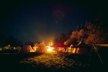Nächtliches Lager
