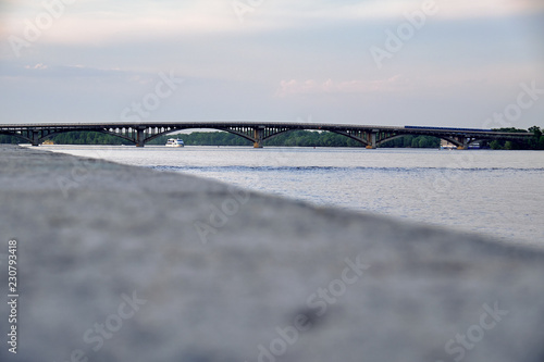 bridge over the Dnieper River in Kyiv