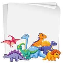 Dinosaur On Blank Paper