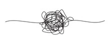 Tangled Grungy Round Scribble