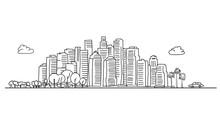 Generic City Skyline With Vari...