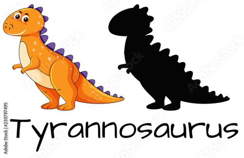 Design of tyrannosaurus dinosaur