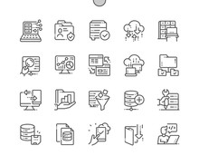 Big Data Well-crafted Pixel Perfect Vector Thin Line Icons 30 2x Grid For Web Graphics And Apps. Simple Minimal Pictogram