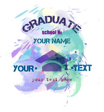 Blue Print To Prom Or Graduate Vector