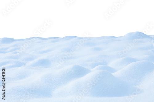 Foto auf Gartenposter Weiß snow isolated on white background