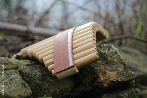 Photo panpipe : flute de pan