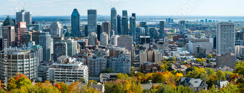 Panoramic view Montreal downtown
