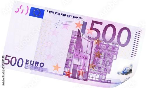 Photo 500 Euros Bill - Isolated