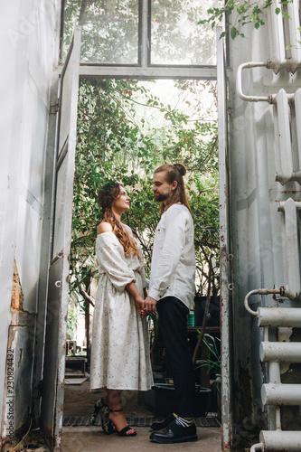 Fotografie, Obraz Beautiful couple in botanical garden