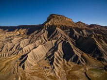 Aerial/Drone Photo Of Mt. Garfield, Near Grand Junction, Colorado.  This Scenic Desert Mesa Mountain Is On The Western Slope Of The Colorado Rocky Mountains.