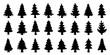 various christmas tree silhouette