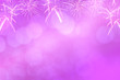 canvas print picture - Colorful firework and blurred bokeh light with copy space in Christmas and New Year. Abstract background holiday concept.