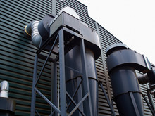 Outdoor Metall Air Ducts Ventilation System Of A Factory
