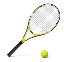 3d Rendering A Single Tennis R...