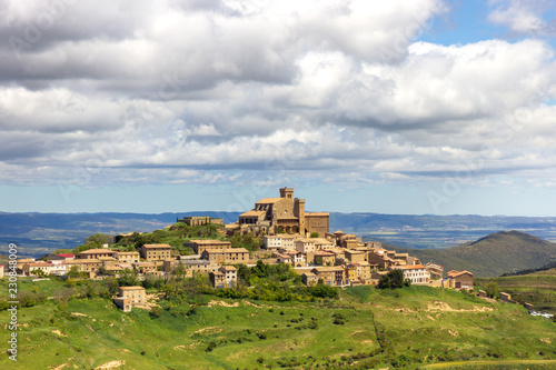 Spanish landscape navarre spain Ujue village