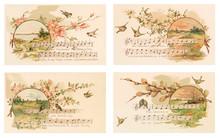 Vintage Easter Postcard. Set 1.