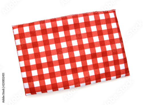 Fotografie, Obraz  red folded tablecloth isolated