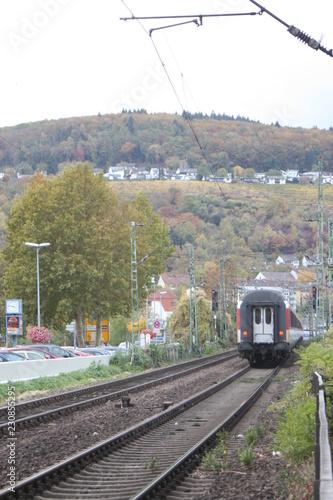 Tuinposter Spoorlijn Zugverkehr, Eisenbahnverkehr