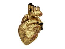 3d Golden Heart