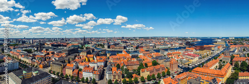 Photo  Top view of Copenhagen, Denmark. Panorama