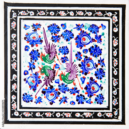 Türaufkleber Phantasie Iranian Decorative Ceramic Tiles