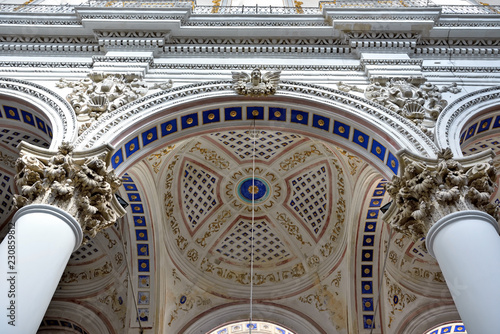 interior of the Cathedral of Saint Peter (san Pietro) in Sicilian Baroque style Modica Italy