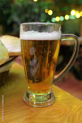 Foto op Aluminium Bier / Cider Glass of lager beer