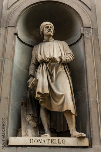 Donatello monument in Florence, Italy Wallpaper Mural