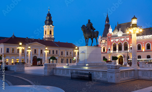 Staande foto Europese Plekken Unirii Square in Oradea, Romania