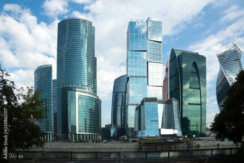 Foto op Canvas Stad gebouw moscow city skyscrapers