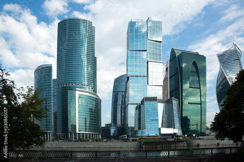 Tuinposter Stad gebouw moscow city skyscrapers