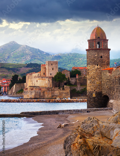 Poster Europese Plekken Colors french town and castle Collioure