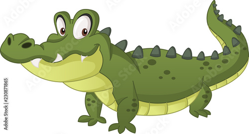 Valokuva Cartoon cute crocodile