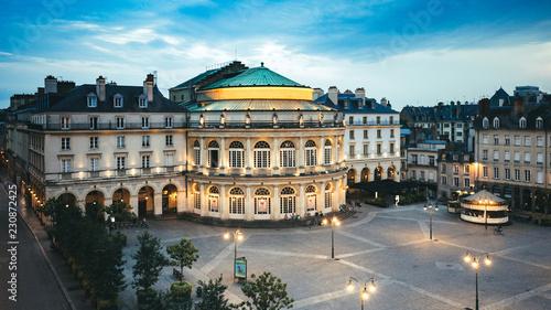 Fotografie, Obraz  Opéra de la ville de Rennes , place de l'hotel de ville, Bretagne