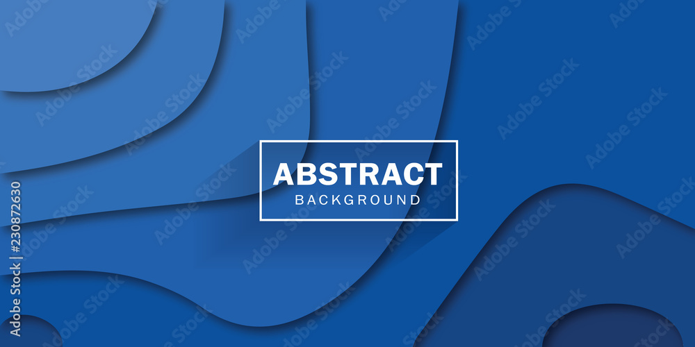 Fototapeta Abstract blue corporate background. Vector design.