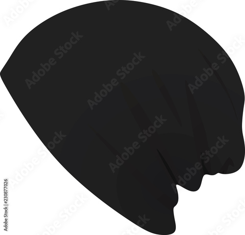 da42a30428f Black winter hat. vector illustration - Buy this stock vector and ...