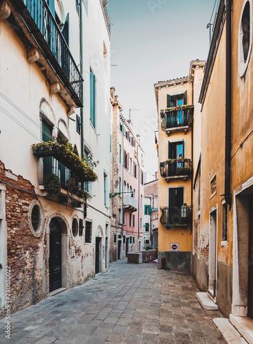 Narrow street in Venice