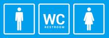 Male Female Bathroom Icon. Restroom Boy Or Girl Lady Sign Symbol. Toilet Wc Vector Concept