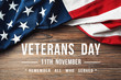 canvas print picture Veterans Day - Remember All Who Served